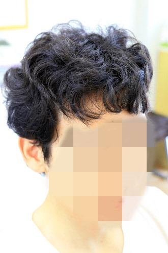 縮毛矯正の施術前