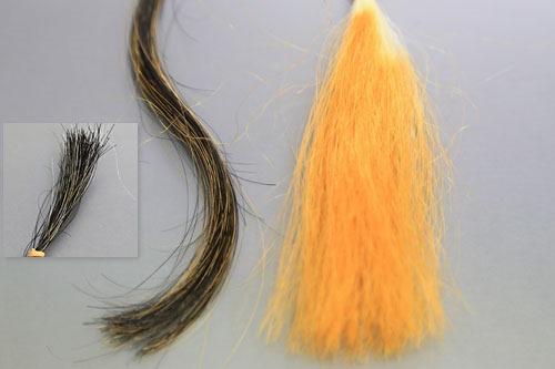ハナヘナ毛束テスト