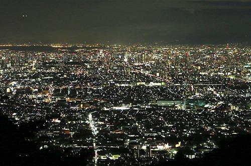 生駒山からの夜景