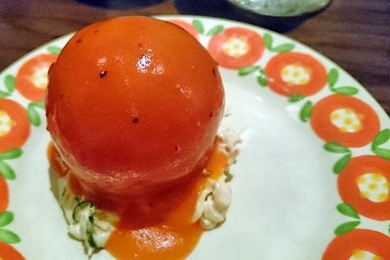 東洋亭のトマトのサラダ