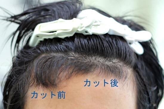 前髪のツーブロック