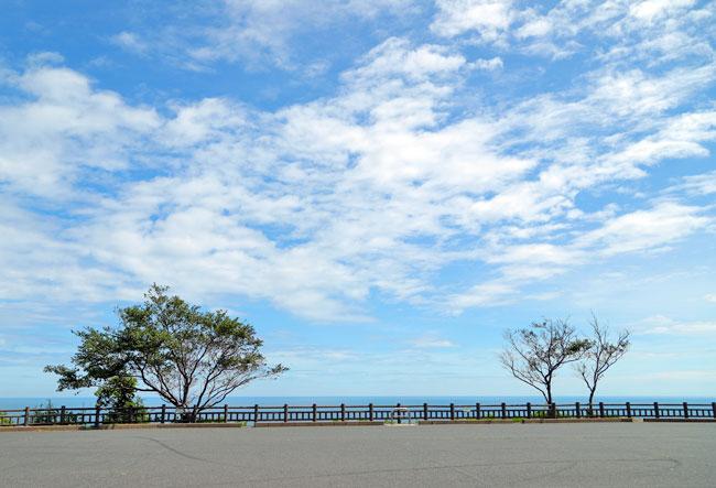 経ヶ岬灯台の駐車場