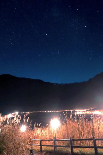曽爾高原山灯り