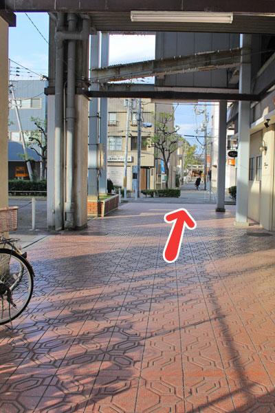 河内永和駅からオーパス21までの道案内
