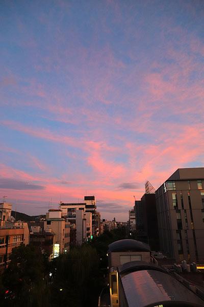 京都の夕暮れ