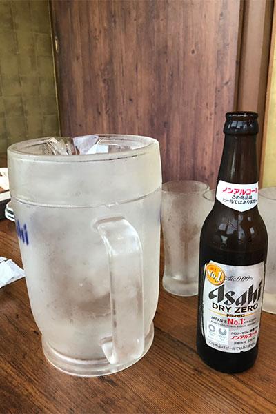 ノンアルコールビールとピッチャー