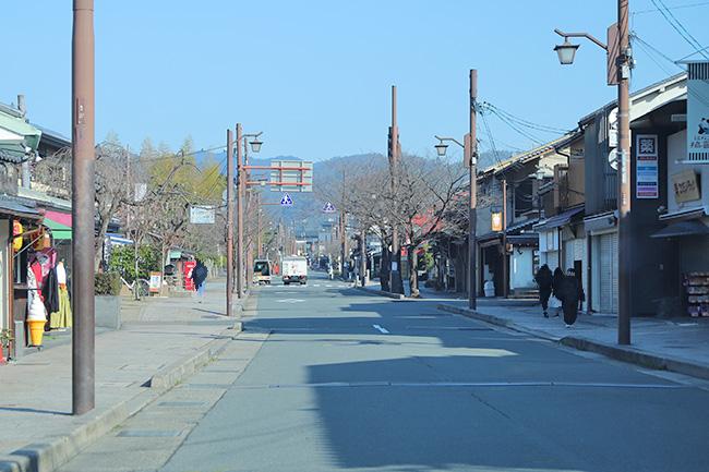 嵐山の土産物街