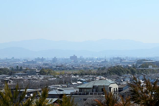 京都法輪寺から見下ろす京都市内