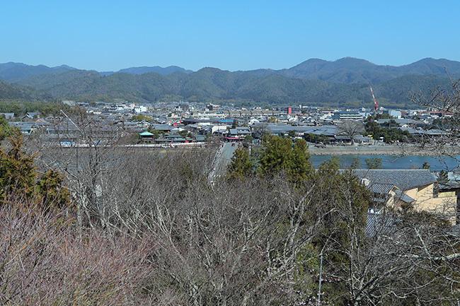 京都法輪寺から見下ろす渡月橋